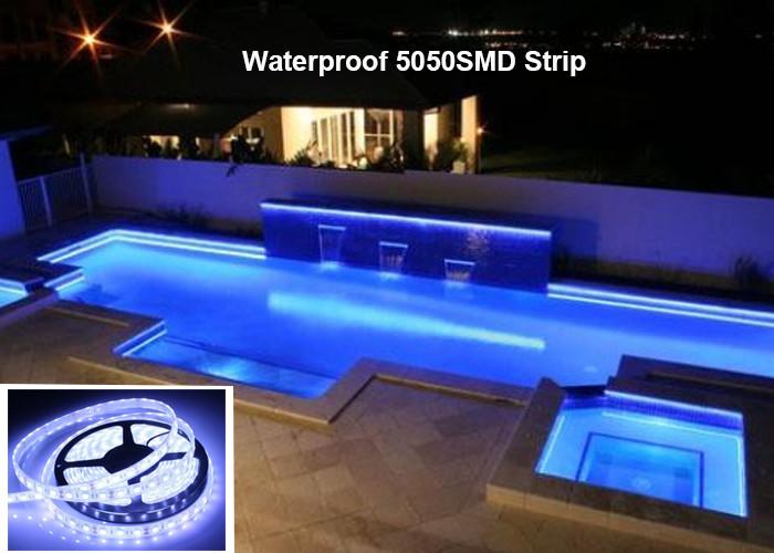 Pool outdoor light waterproof led lighting strip outdoor lighting 12v white rgb led strip lights cuttable waterproof swimming pool aloadofball Images